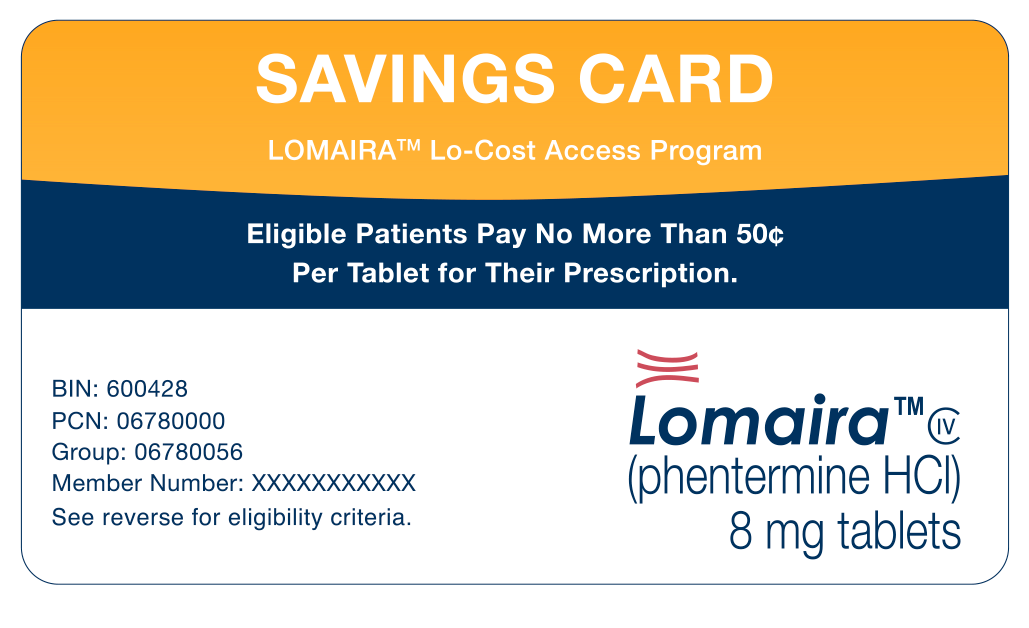 Lomaira savings card